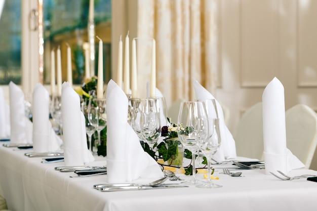 結婚式-豪華に装飾されたテーブル
