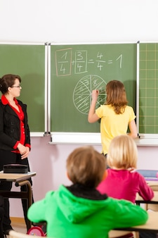 学校教育の生徒と教師