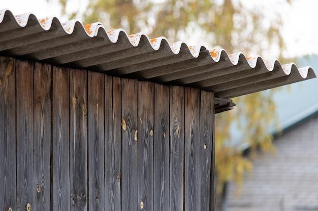 Шифер кровельный деревянный гаражный