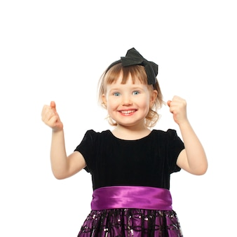 成功した幸せな笑顔の女の子