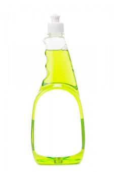 薄緑色のシャンプー付きプラスチックボトル