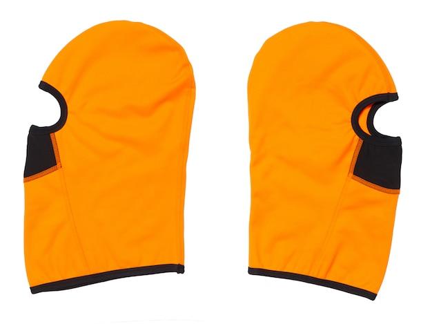 オレンジ色の目出し帽