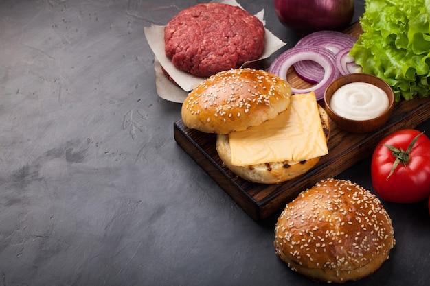Комплект для гамбургеров.