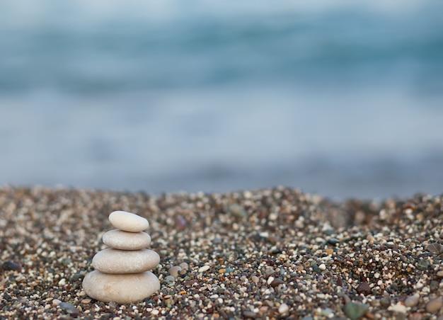 海の海岸の石