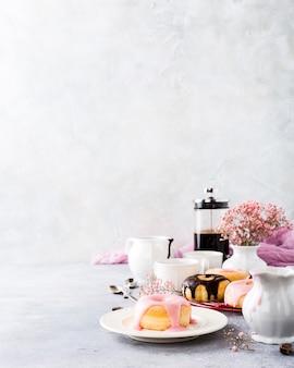 釉薬と自家製ドーナツ
