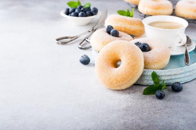 砂糖と自家製ドーナツ