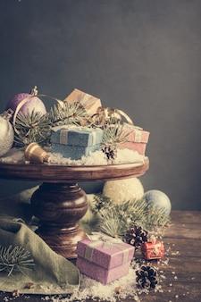 クリスマスプレゼントと装飾