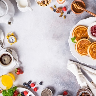 Ассорти из здорового завтрака