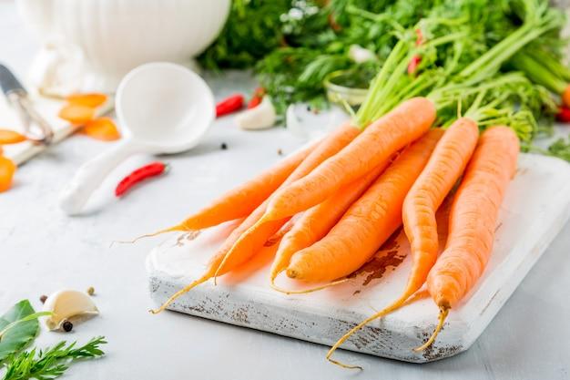 Ингредиенты для морковного супа