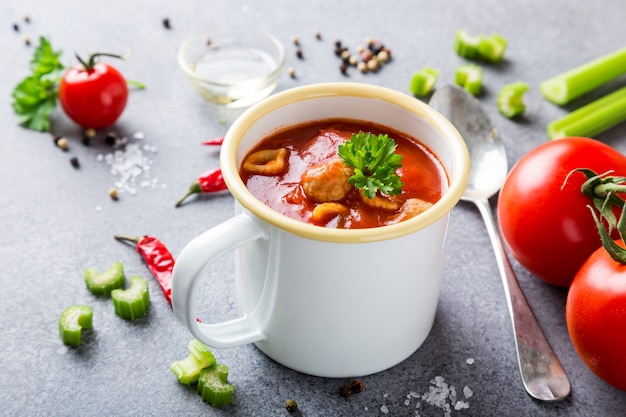 自家製トマトスープ