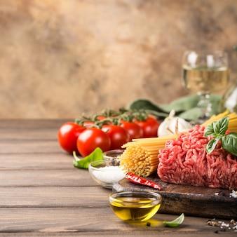 スパゲッティボロネーゼの材料