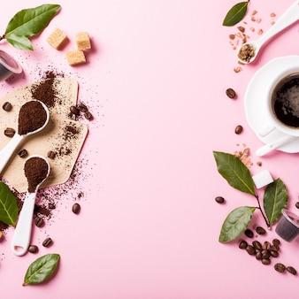 Еда фон с ассорти из кофе