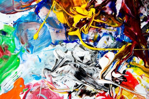 明るい水彩絵の具パレットの背景画像