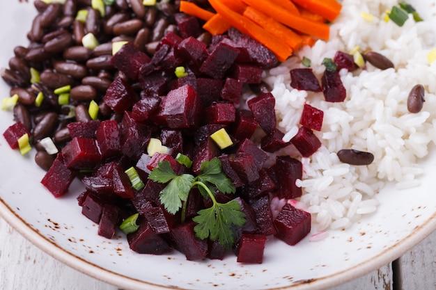 米とビートの豆