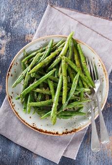 ペストとグリーンサマーサラダ豆。