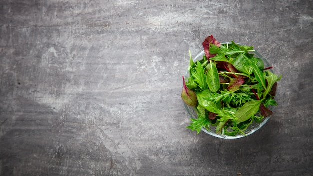 フレッシュグリーンミックスサラダ。夏のおやつ