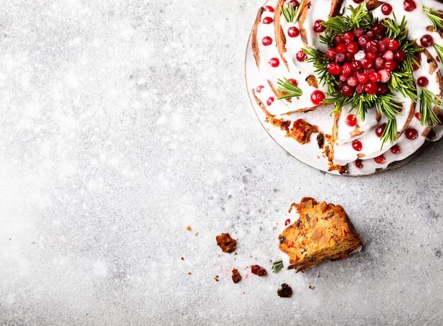 Рождественский фруктовый торт, пудинг, выпечка