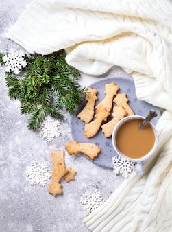 Рождественское печенье в форме звезды