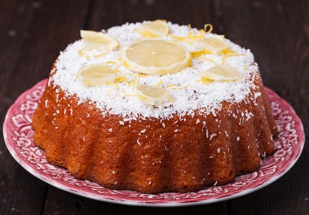 Рождественский лимонный пирог