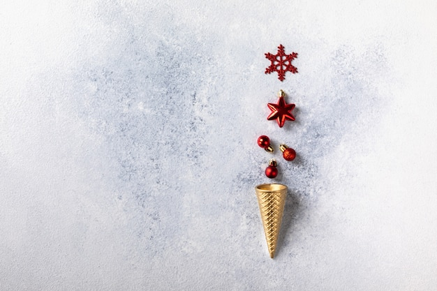 クリスマスと新年の休日の概念。