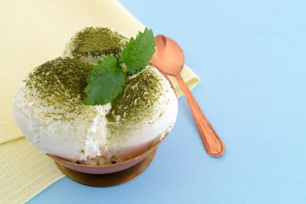 抹茶とミントのアイスクリーム。
