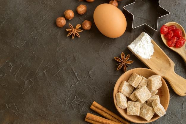 Ингредиенты для приготовления домашнего рождественского печенья