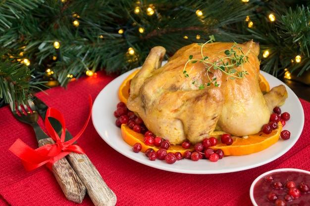 Запеченная курица в духовке.