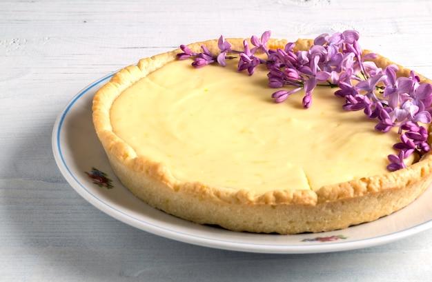 クラシックなニューヨークの自家製チーズケーキ。