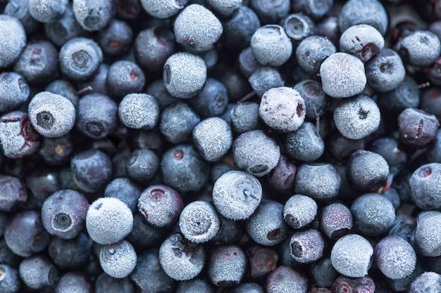 冷凍ブルーベリーの背景