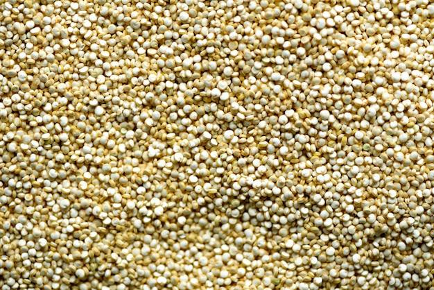 生有機キノア穀物テクスチャ。食品成分