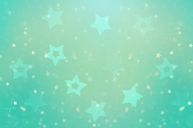 Праздничный абстрактный фон с голубыми звездами.