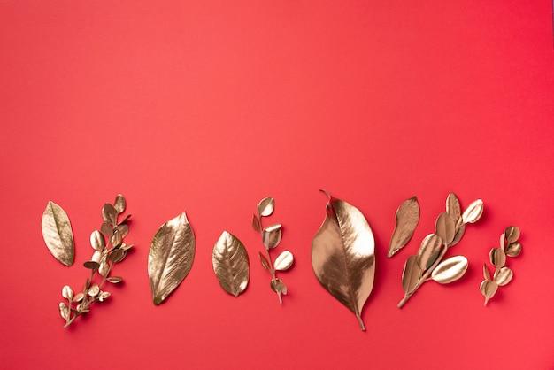 黄金の葉。上面図。