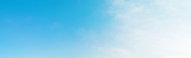 夏の青い空バナーの背景