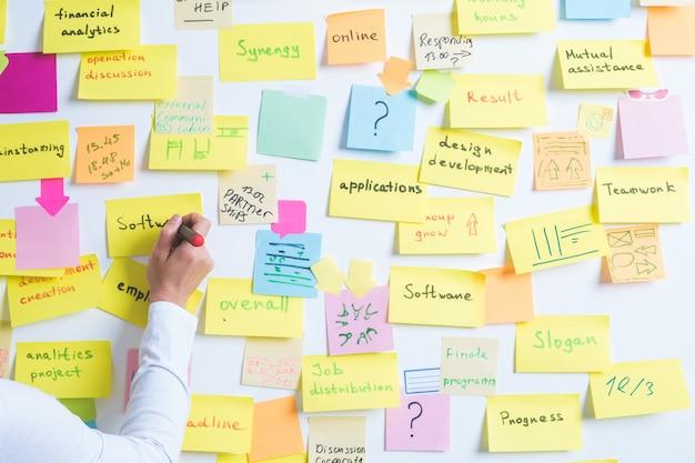 事業者は重要なメモを書き留めます