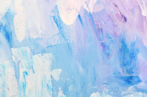 Абстрактное искусство рисованной акриловой живописи. мазки