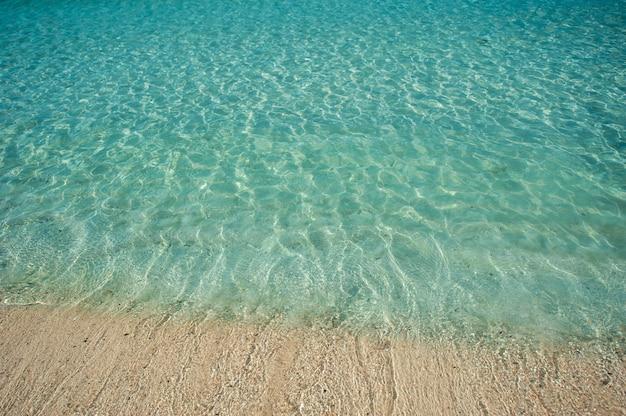 Красивый морской песчаный пляж в дубае с бирюзовой водой
