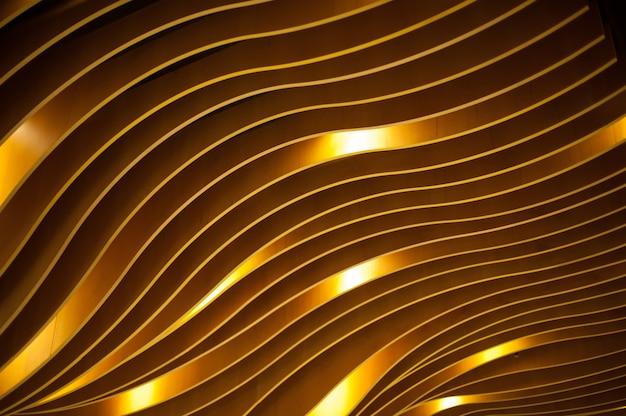 Оформление фона текстурными волнами в интерьере хай-тек
