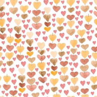 Шаблон цепочки сердец. бесшовный фон для вашего дизайна.