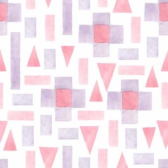 抽象的な水彩画の幾何学的なシームレスパターン。幾何学的な背景。