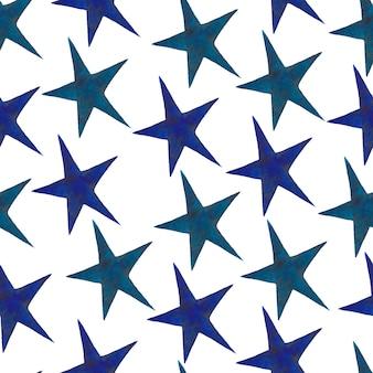 星 - 白い背景で隔離の手描き水彩星のセット。