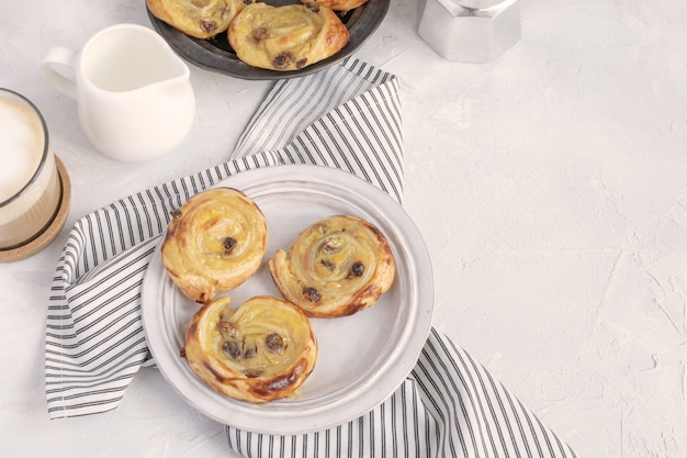 フランスの朝食コンセプト