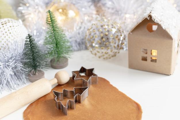クリスマス料理 - 自家製ジンジャーブレッドクッキー生地