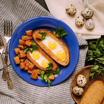 Завтрак с перепелиными яйцами