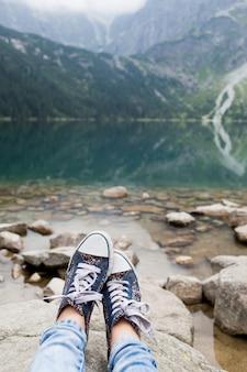 美しい山での休息とレクリエーション