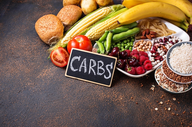 炭水化物の健康製品ソース。