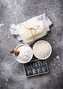 Безглютеновая рисовая мука, зерно и лапша