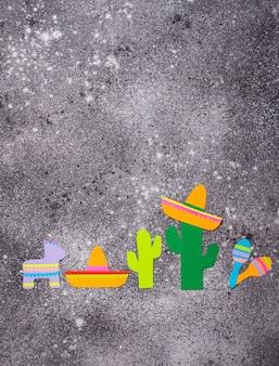 シンコデマヨ、メキシコのフィエスタデーのコンセプトです。