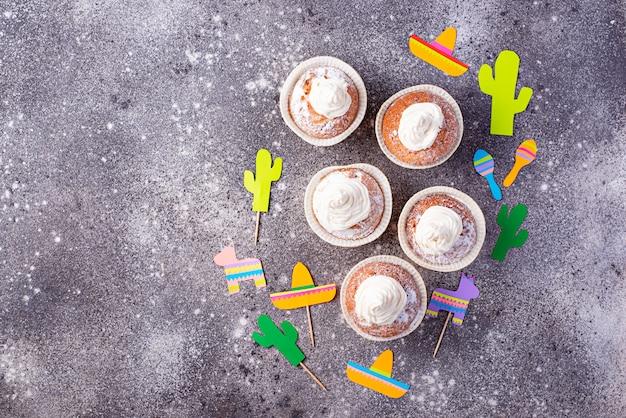 Кексы для празднования мексиканской вечеринки
