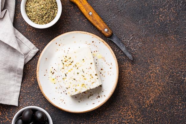 スパイスとフレッシュフェタチーズ