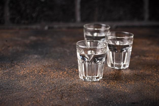 Очки русского напитка водка